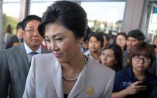 Thai Prime Minister Yingluck Shinawatra in Bangkok on 10 December, 2013. Picture: AFP.