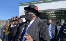 Police Minister Bheki Cele visited the scene in NY 79, Gugulethu, on 24 June 2021 after eight people were killed. Picture: Kaylynn Palm/Eyewitness News.