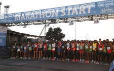 FILE: Runners at the starting line of this year's Sanlam Cape Town Marathon. Picture: Cindy Archillies/EWN