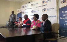 Gauteng Education MEC Panyaza Lesufi briefs the media on 17 January 2020 on the death of Parktown Boys' High learner Enock Mpianzi while attending a school camp. Picture: Kgomotso Modise/EWN