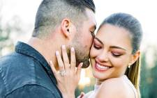 Demi-Leigh Nel-Peters announced her engagement to Tim Tebow. Picture: @demileighnp/Instagram