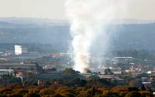 The fire in Alexandra from Linkdfield Ridge. Picture: Tony Hendry