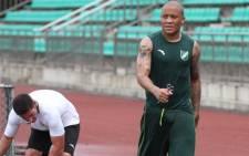 Bafana Bafana striker Dino Ndlovu. Picture: @dino08bravo/Twitter
