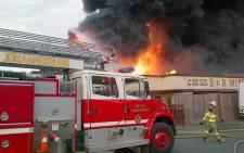 Fire at a Germiston factory on 7 July 2012. Picture: Twitter via @_zazu_