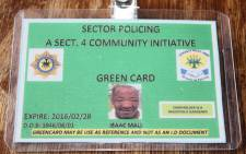 FILE: The green ID cards issued to workers in Worcester. Picture: Daily Voice.