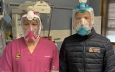 Snorkel masks protect healthcare personnel at Tygerberg Hospital during the Covid-19 pandemic. Image: Western Cape Government.