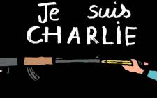 Cartoonists from all over the world, including French cartoonist Jean Jullien, mourn in the wake of the Charlie Hebdo shooting.  Picture: @jean_jullien/Twitter