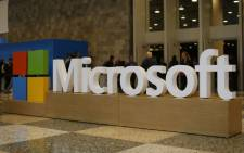 A Microsoft logo is seen in San Francisco, California. Picture: AFP.