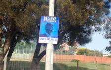 In Port Elizabeth on 8 May 2015, a day before the DA Congress Mmusi Maimane posters line the streets. Picture: Rahima Essop/EWN.