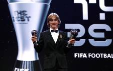 Luka Modric was crowned Fifa's best player of the year. Picture: @lukamodric10/Twitter