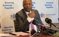 Gogta MEC Lebogang Maile held a press conference on 06 October 2021 to announce the province's response from to the ConCourt ruling, which found that the decision to dissolve the Tshwane municipal council was unwarranted. Picture: Eyewitness News.