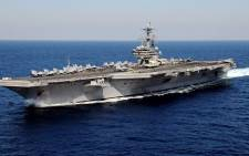 American aircraft carrier USS HW Bush underway in the Atlantic Ocean. Picture: Wikimedia Commons.