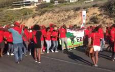 EFF members march in Clifton on 30 December 2018. Picture: EWN
