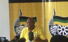 Free State ANC spokesperson Thabo Meeko briefing the media on the Free States provincial elective conference on 11 December 2017. Picture: Clement Manyathela/EWN