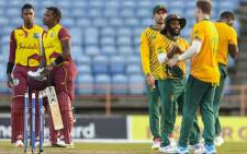 Recording 168/4 in the first innings, the Proteas successfully restricted West Indies to 143/9, claiming a 25-run victory at Grenada on 3 July 2021. Picture: @ICC/Twitter.