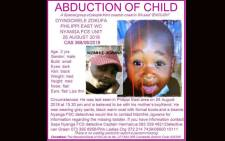 Oyingcwele Zokufa (2) is missing. Picture: Pink Ladies Organisation