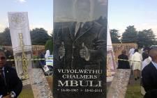 Vuyo Mbuli's tombstone at the Westpark Cemetery in Johannesburg. Picture: Christa van der Walt/EWN