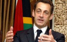 French President Nicolas Sarkozy in Cape Town during his visit to South Africa in February 2008. Picture: SAPA stringer