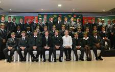 The Under 20 Springbok squad received their caps on 29 May 2013 before their departure to France to defend their Junior World Cup title. Picture: Aletta Gardner/EWN
