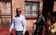 Security cluster on door to door in Bekkersdal. Picture: Sebabatso Mosamo/EWN.