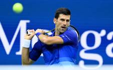 Novak Djokovic in action at the US Open on 31 August 2021. Picture: @usopen/Twitter