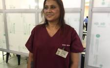 Dr Nerika Maharaj, the first health-care worker to be vaccinated in KwaZulu-Natal. Picture: Nkosikhona Duma/EWN
