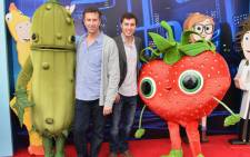 "Screenwriters Johnathan M. Goldstein and John Francis Daley arrive to the premiere of Columbia Pictures and Sony Pictures Animation's ""Cloudy With A Chance of Meatballs 2"" at the Regency Village Theatre on September 21, 2013 in Westwood, California. Picture: AFP"