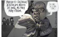 The Eskom Torch is passed on to Brian Molefe