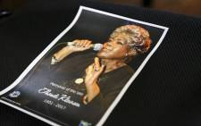 A memorial service program for late South African Jazz musician Thandi Klassen lies on a chair in the Germiston City Hall during her memorial service on 25 January 2017. Picture: Reinart Toerien/EWN