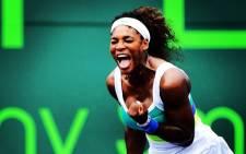 Serena Williams won her match against Yaroslava Shvedova 7-6(9-7) 6-2. Picture: Facebook.