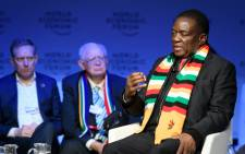 FILE: Zimbabwe's President Emmerson Mnangagwa attends the annual World Economic Forum (WEF) on 24 January 2018 in Davos. Picture: AFP.