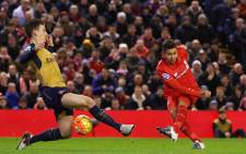 Liverpool's Roberto Firmino netted a fine double during the Premiership clash against Arsenal at Anfield on 13 January 2016. Picture: Liverpool FC Facebook page.