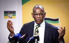 FILE: ANC secretary-general Ace Magashule is seen during the ANC press conference on 1 August 2018 on the outcomes of the ANC NEC Lekgotla that was held on 30 to 31 July 2018 in Tshwane. Picture: EWN.