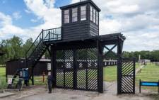 The so called 'Gate of Death' at the museum in former Nazi Death Camp Stutthof, in Sztutowo, Poland in July 2020. Picture: Wojtek RADWANSKI/AFP