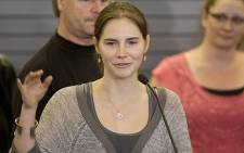 Amanda Knox was found guilty for the second time for the 2007 murder of Meredith Kercher. Picture: AFP.