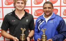 From left to right - The Sharks' Patrick Lambie and Vodacom WP's Allister Coetzee. Picture: Supplied