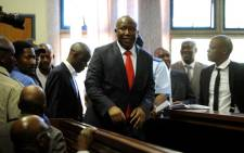 Julius Malema appears in the Polokwane Regional Court in Limpopo on 26 September 2012. Picture: Werner Beukes/SAPA