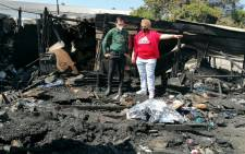 Three people have died and two others are being treated for smoke inhalation following a fire in Ravensmead in Cape Town. Picture: Eyewitness News