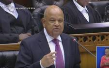 Finance Minister Pravin Gordhan delivering his 2017 budget speech in Parliament. Picture: YouTube screengrab.