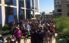 Students matching on the Wits campus on 10 October 2016. Picture: EWN.