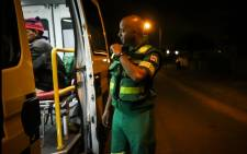 FILE: Dimitri Beukes reports a new patient to control room in Tygerberg. Beukes is a paramedic who has been attacked in a recent assault against EMS staff. Picture: EWN