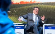 CNN anchor Richard Quest at the 2019 World Economic Forum in Davos. Picture: World Economic Forum