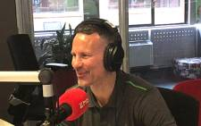 Manchester United legend Ryan Giggs in the 94.7 studio. Picture: 947.co.za