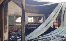 The community of Katlehong set fire to sections of Katlehong Primary School, allegedly during a service delivery protest. Picture: Panyaza Lesufi.