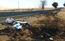 The scene of the accident on the N6 outside Reddersburg, Free State where Gauteng Economic Development MEC died. Picture: @eNCAnews via Twitter.