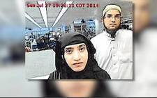 San Bernardino killers Syed Rizwan Farook and wife Tashfeen Malik were radicalized before dating online, the FBI says.Picture : Screengrab/CNN.