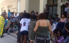 A Stellenbosch University rep informed the protesting students that the interdict they've obtained will now be enforced. Shamiela Fisher/EWN.