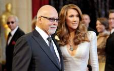 Celine Dion and the late Rene Angelil. Picture: AFP.