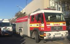 Firefighters attending to a gas explosion incident at the Gardens Shopping Centre in Cape Town. Picture: Kaylynn Palm/EWN.