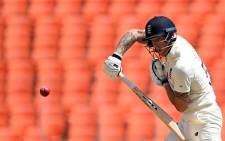 England's Ben Stokes plays a shot on the first day of the fourth Test cricket match between India and England at the Narendra Modi Stadium in Motera on March 4, 2021. Picture: Sajjad Hussain / AFP
